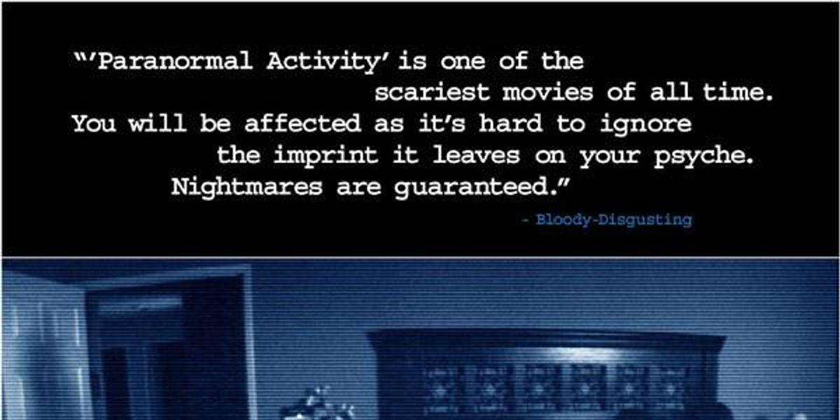 """""""Paranormal Activity"""": el terror hecho realidad"""