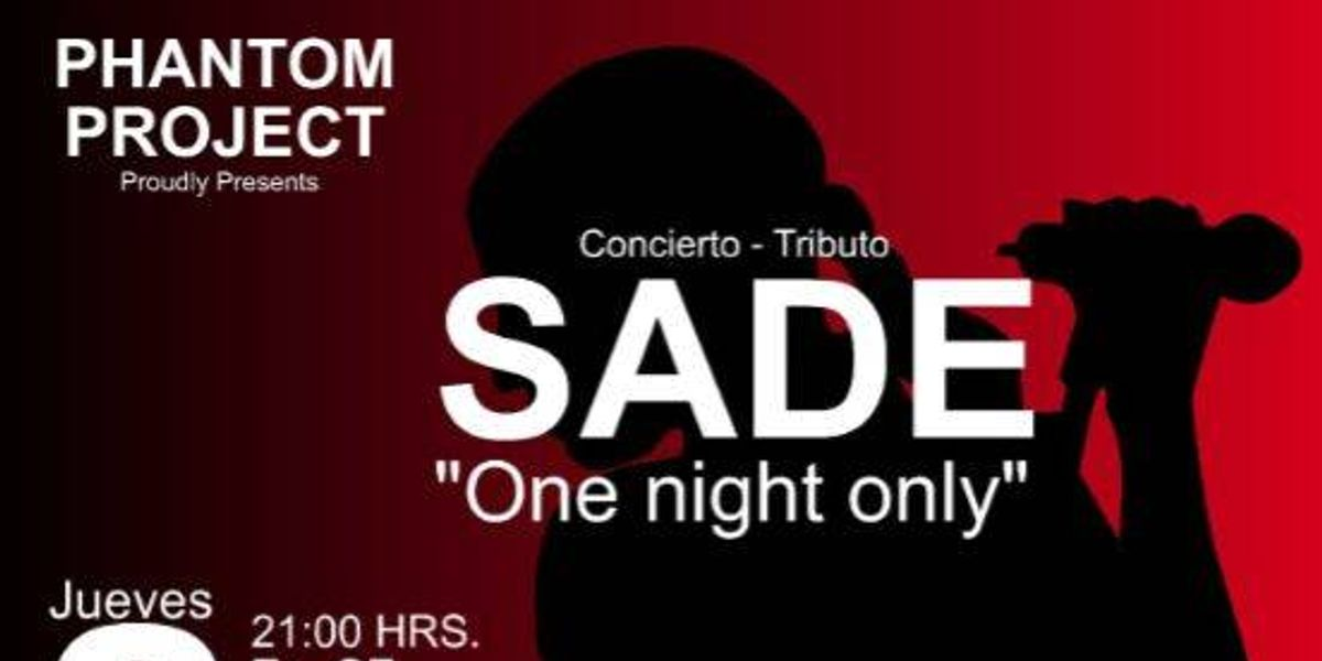 Tributo a Sade – One Night Only