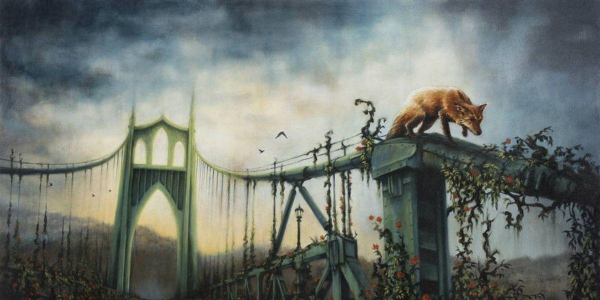 Las pinturas que muestran a animales apoderándose de paisajes urbanos
