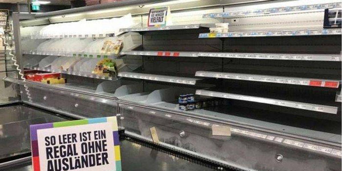 Supermercado alemán quita todos los alimentos extranjeros de sus estanterías