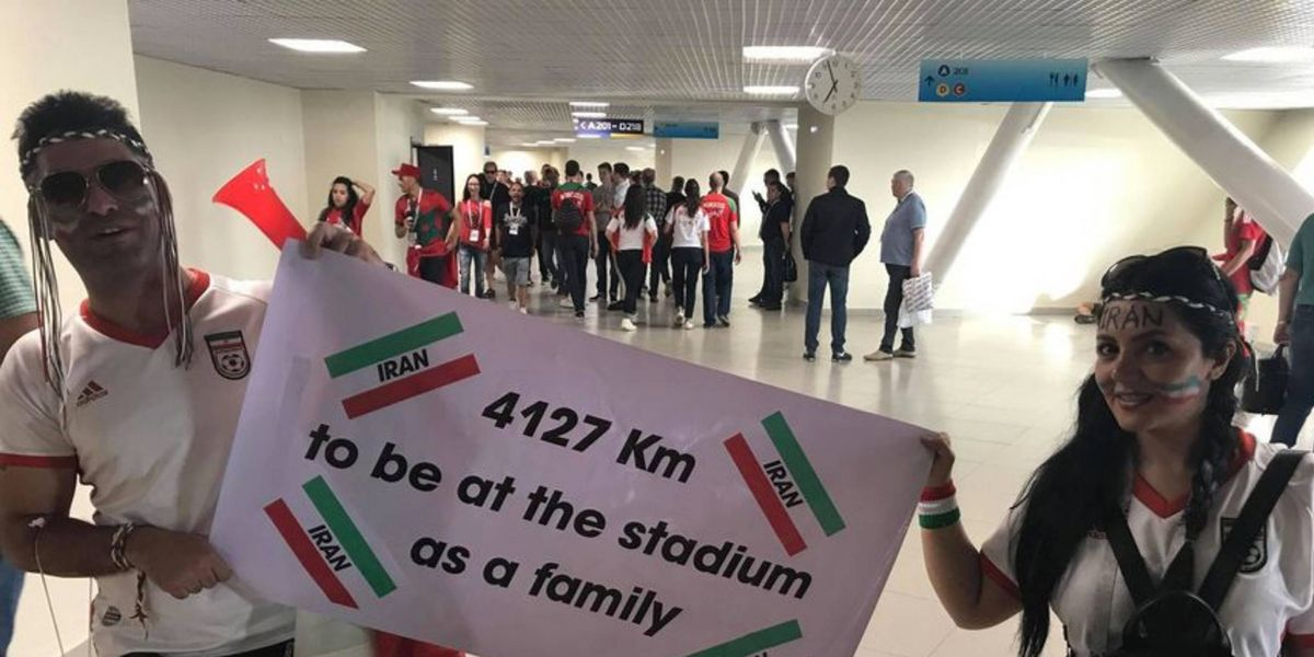 Iraní se llevó a su esposa hasta Rusia para mostrarle cómo es el fútbol