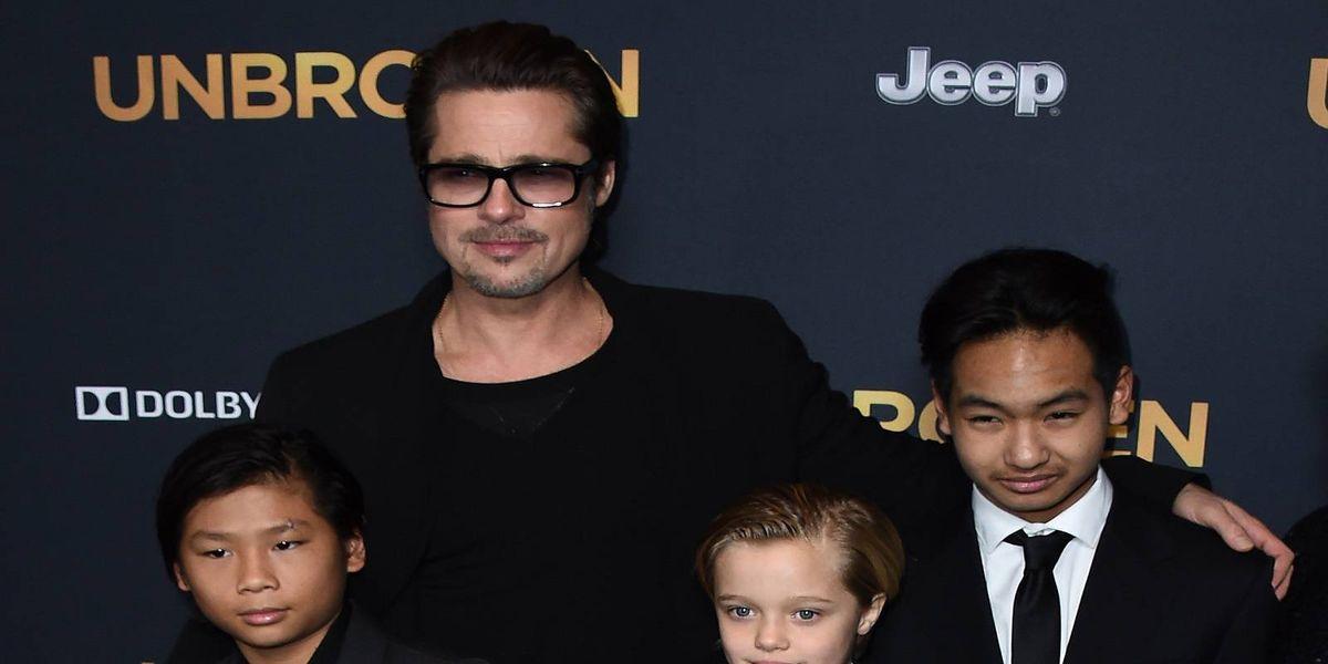 La triste celebración de Brad Pitt sin dos de sus hijos