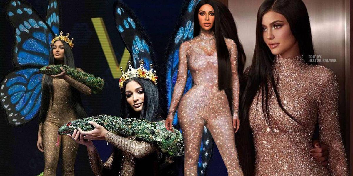 Aseguran que traje típico de Miss Venezuela en Miss Universo estaba inspirado en Kim Kardashian y Kylie Jenner
