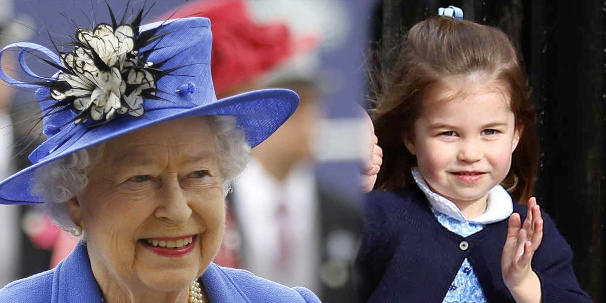 Las fotos del impresionante parecido entre la princesa Charlotte y la reina Isabel II