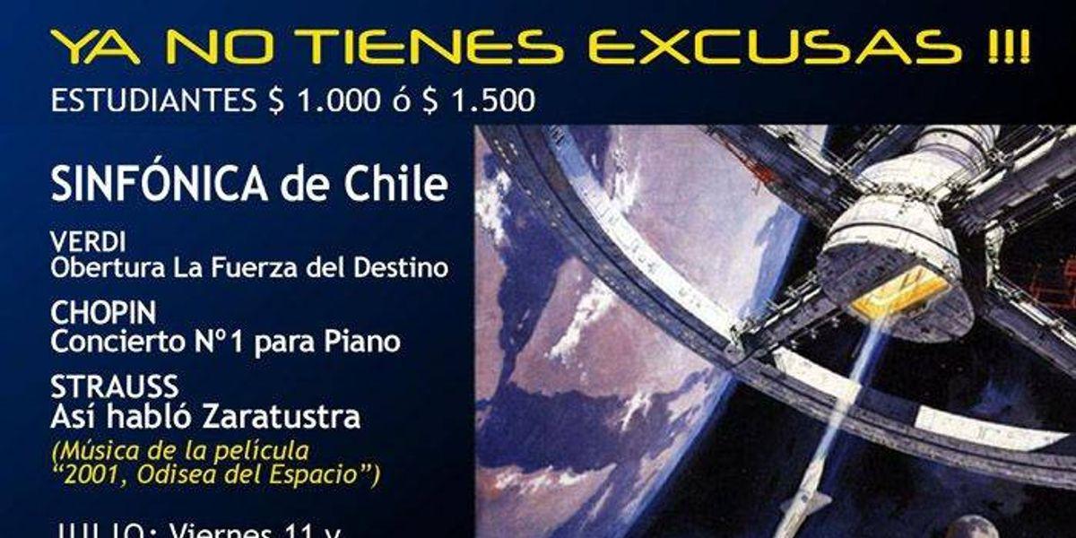 """La Sinfónica interpretará parte de """"2001 Odisea en el Espacio"""""""