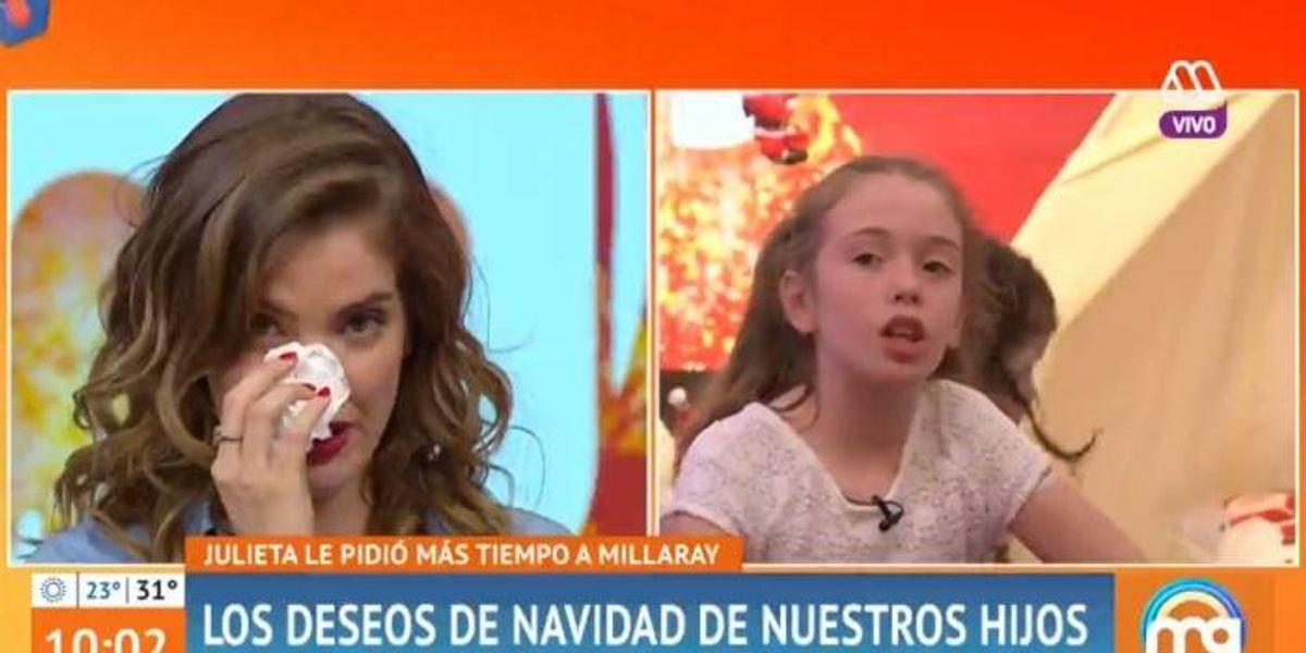 """Millaray Viera rompe en llanto tras conocer el deseo navideño de su hija: """"Me siento culpable"""""""