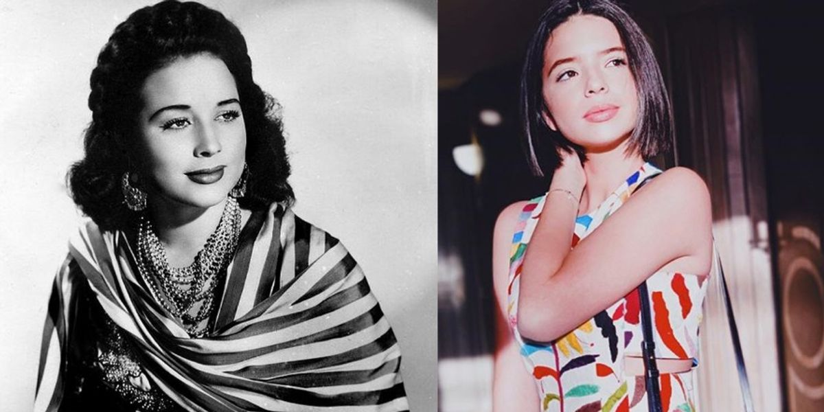 Ángela, la hija menor de Pepe Aguilar, es la copia exacta de su abuela Flor Silvestre