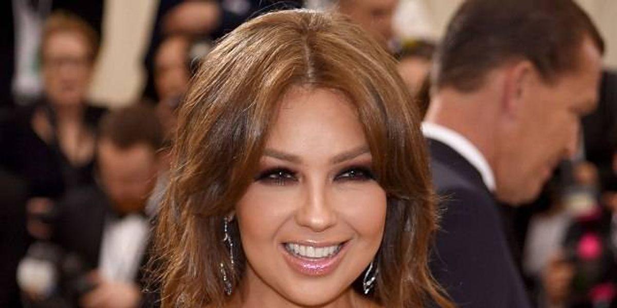 La foto que nunca viste de Thalía en su boda y que dedicó al estilista Oribe Canales