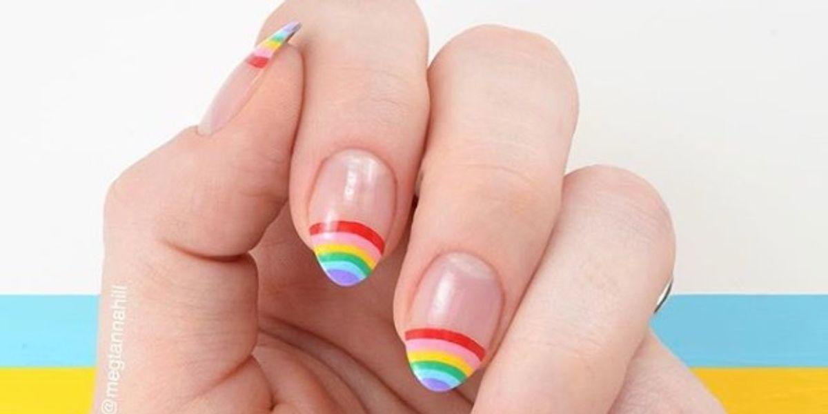 Rainbow nails, el diseño de uñas más original de la temporada