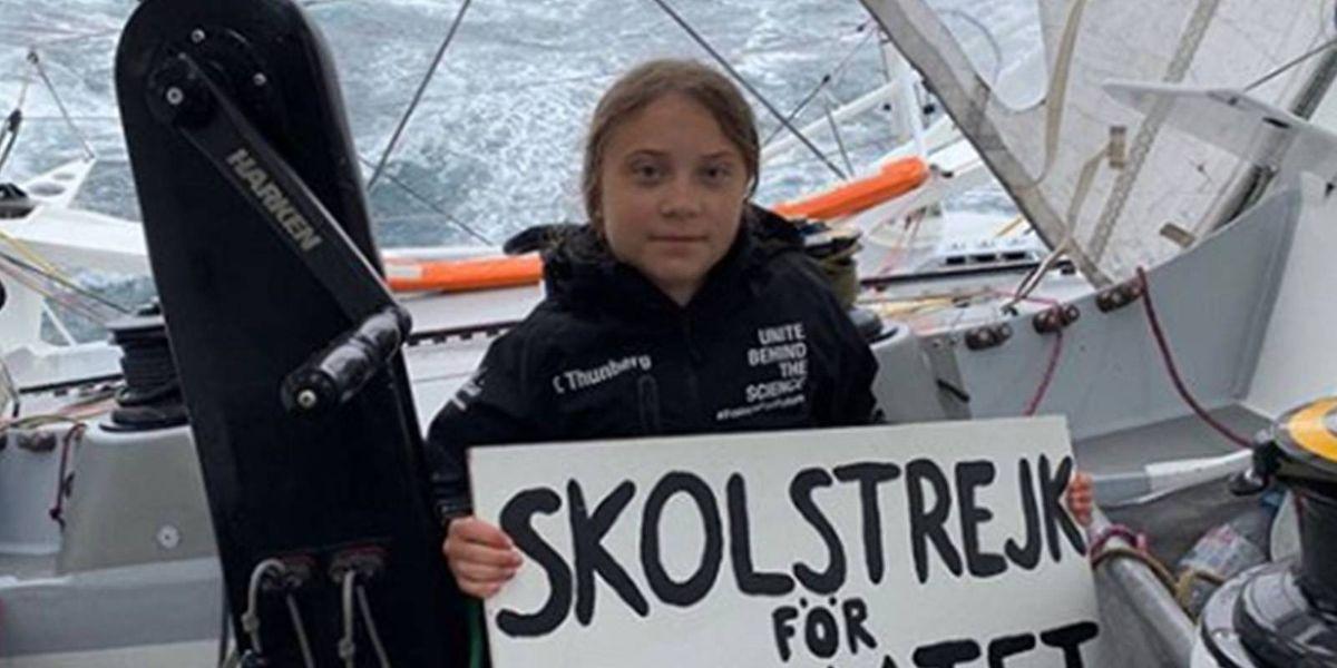 FOTOS: Greta Thunberg cruzó el Atlántico con solo 16 años en un velero con cero emisiones y llegó a Nueva York