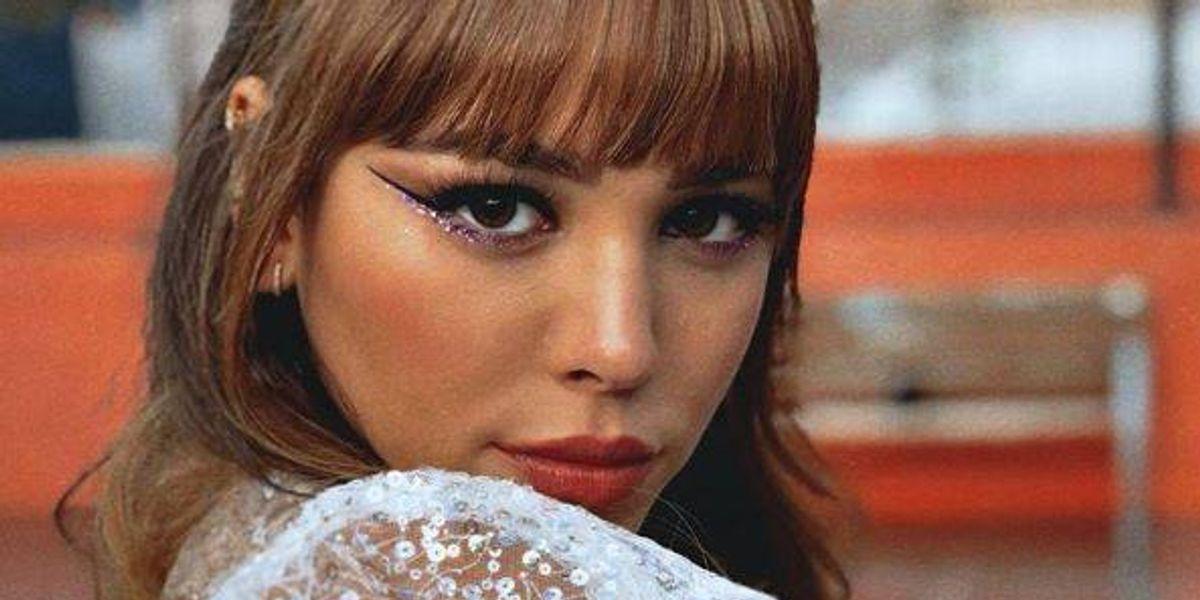 El look rockero de Danna Paola con un traje de cuero en La Academia