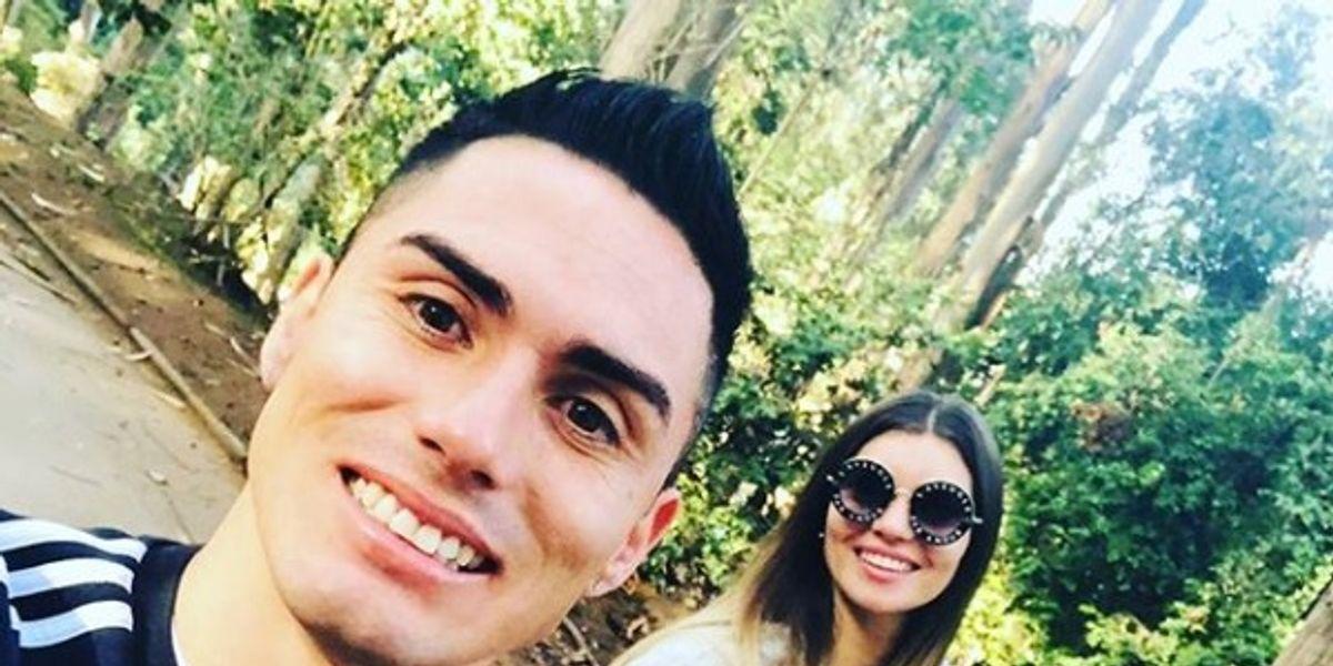 """""""Nuevamente te alejas de mí"""": Faloon Larraguibel se despide de Jean Paul Pineda por viaje a Colombia"""
