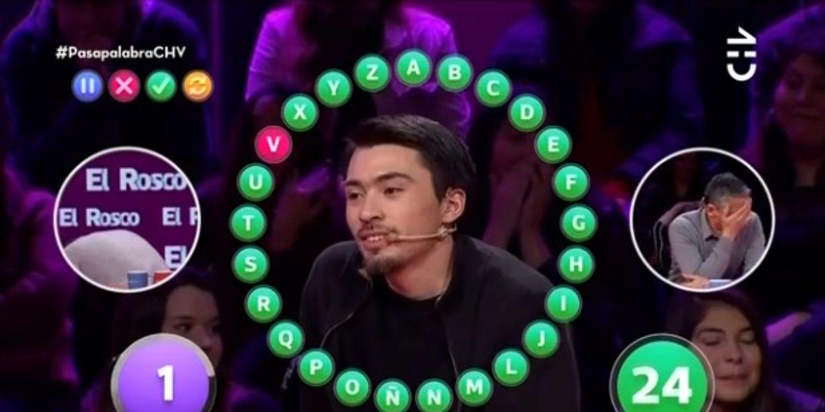 Otra vez no pudo: a Nico Gavilán le faltó una palabra para llevarse el 'rosco' en 'Pasapalabra'