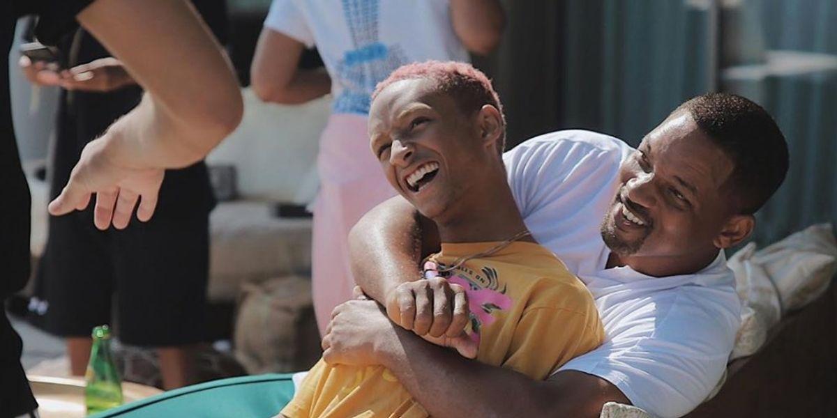 Will Smith provocó las risas de su familia por emborracharse en el festejo de su hijo