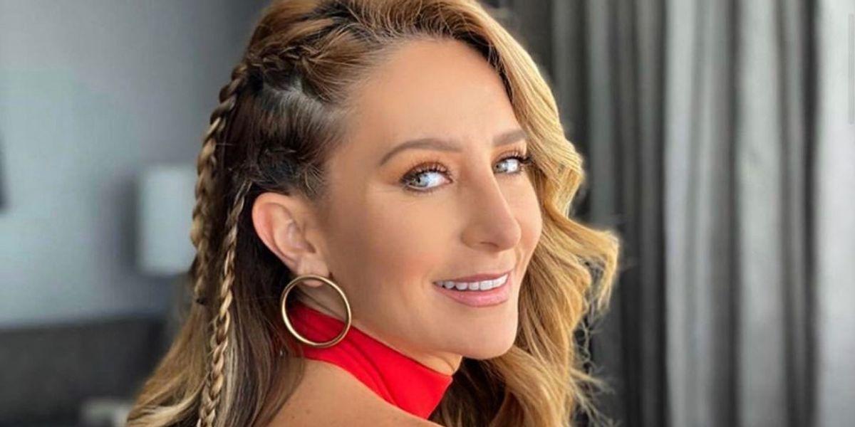 El jumpsuit rojo de Geraldine Bazán con el que conquistó Puerto Rico