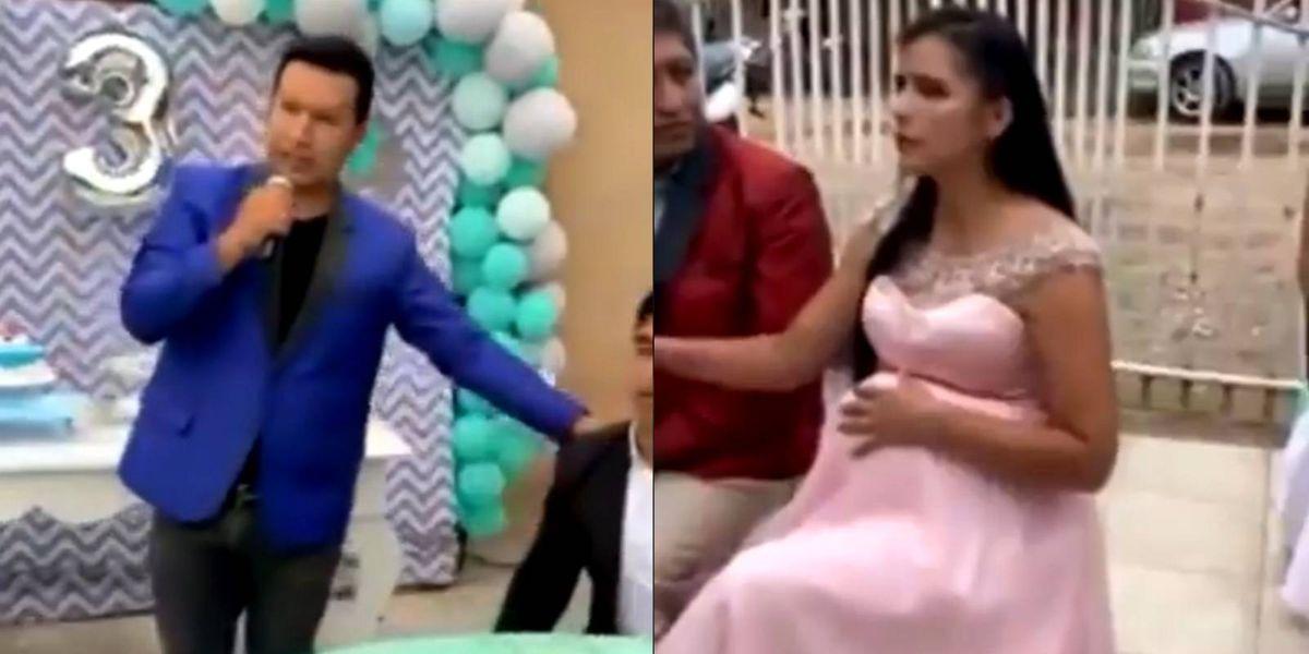 Hombre destapa la infidelidad de su esposa en una fiesta familiar y el video supera a las telenovelas