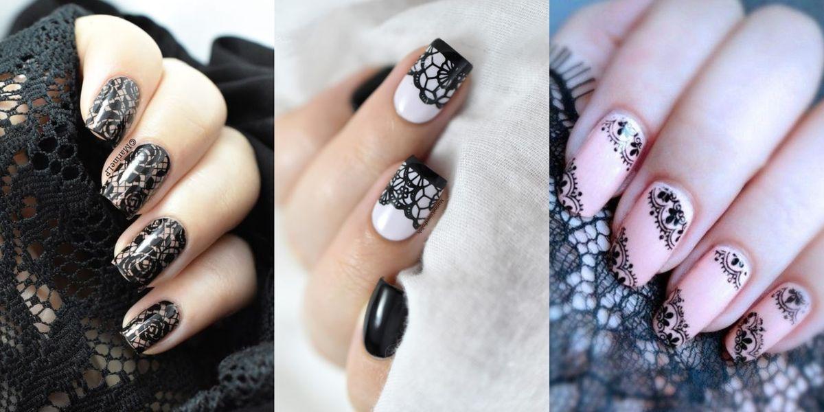 Diseños de uñas con encajes para lucir sexy y moderna