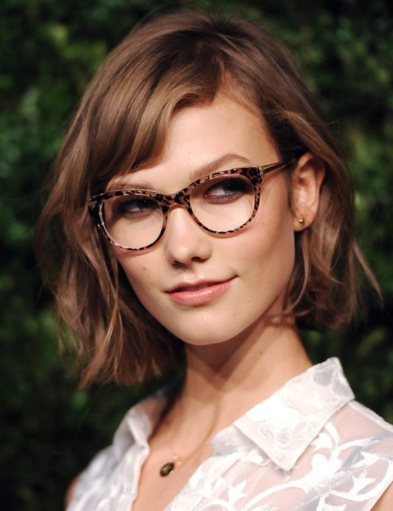 cortes de cabello mujeres lentes