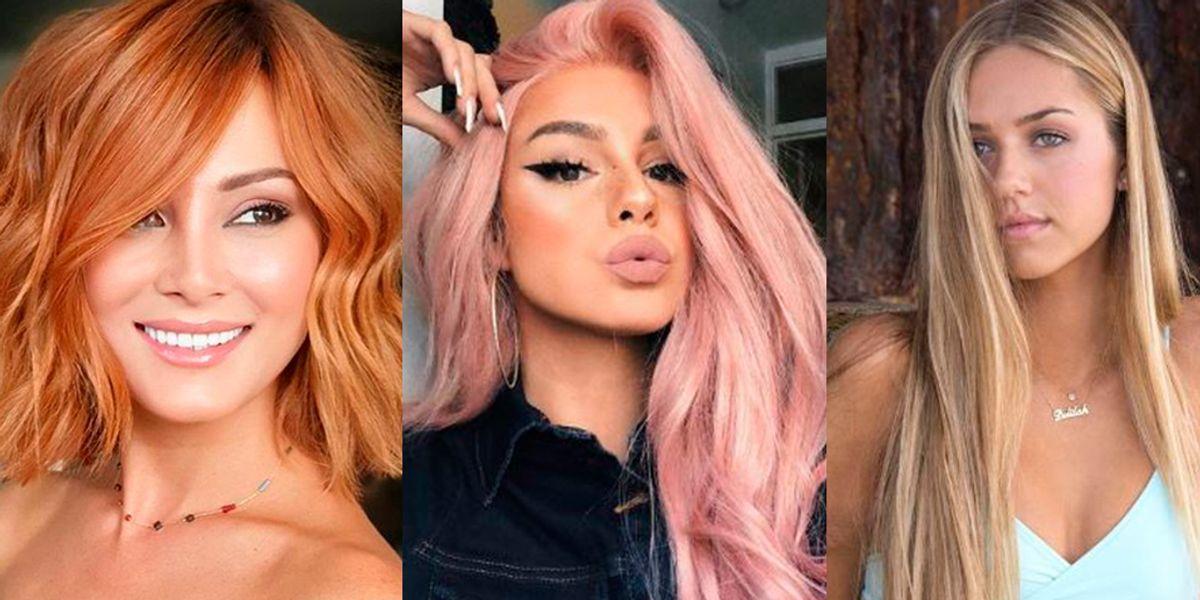 Tintes modernos que favorecen a chicas de cara redonda para cambiar de look en el verano