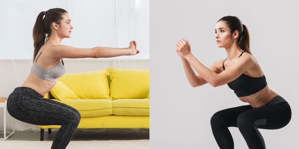 4 tipos de sentadillas y qué beneficios tiene cada una