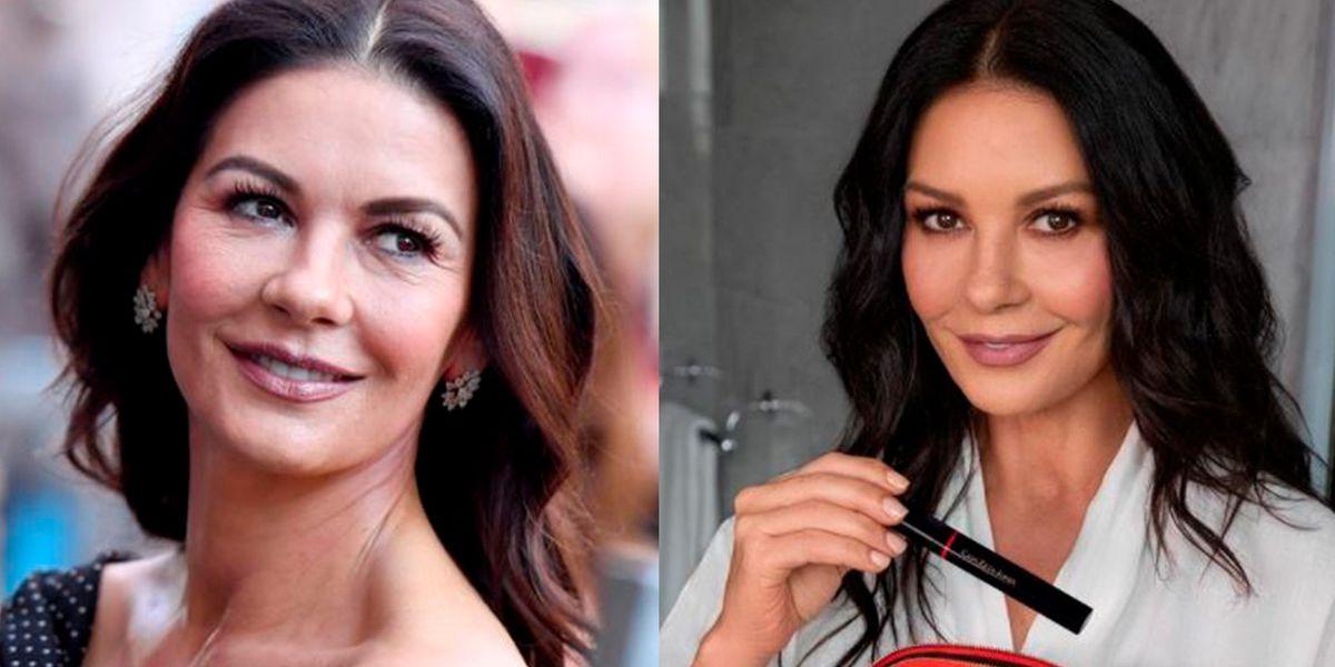 Catherine Zeta-Jones sin maquillaje a sus 51 años prueba que no envejece