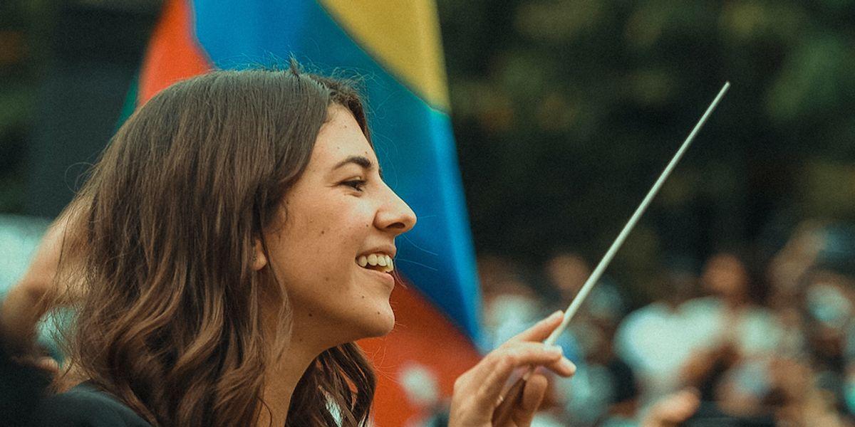 Susana Boreal, la joven que puso a vibrar a los colombianos al son de la música en medio del paro