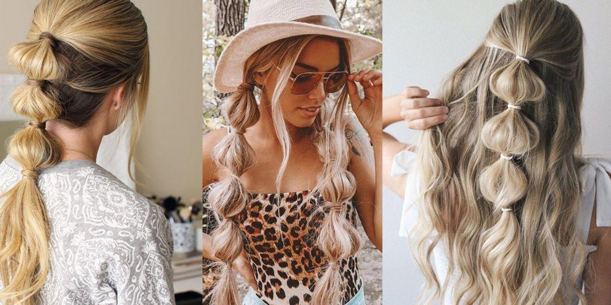 Peinados con trenzas burbujas para deslumbrar en el verano y realzar tu elegancia