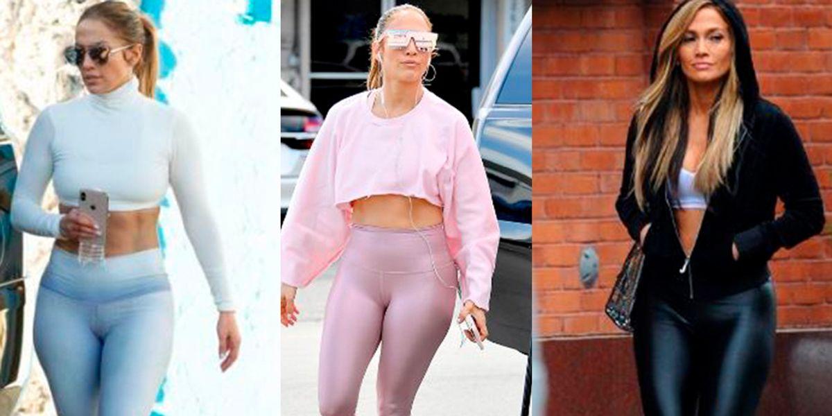 Jennifer Lopez en leggins metalizados impone la tendencia más fashion y cómoda