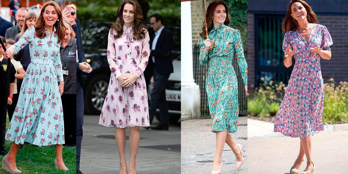 Todas queremos tener estos vestidos floreados de Kate Middleton