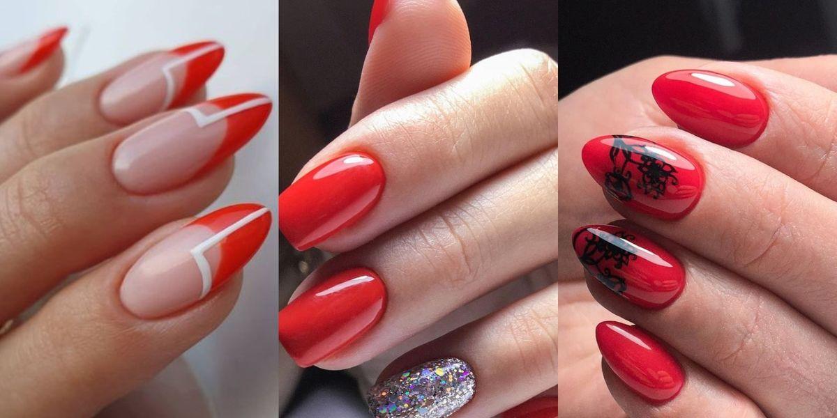 Uñas rojas para una manicura versátil y elegante sin importar la edad