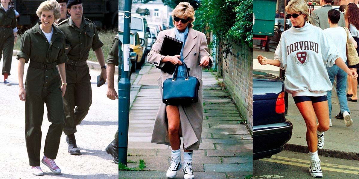 Trucos de la princesa Diana para llevar tenis con elegancia y comodidad