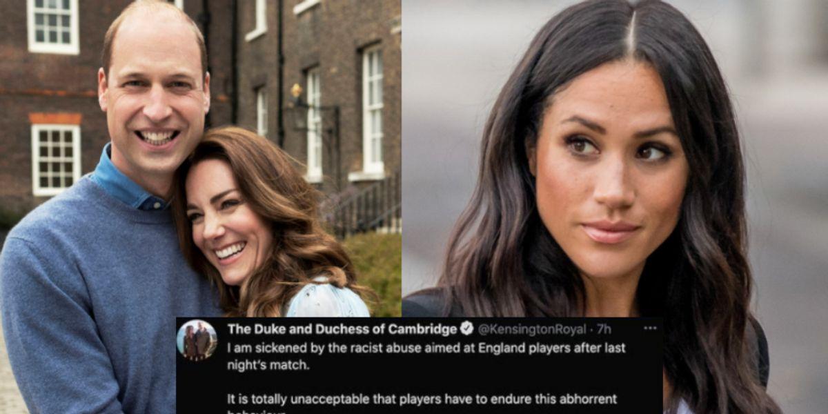 Critican al príncipe William y Kate Middleton por no haber defendido a Meghan Markle de ataques racistas