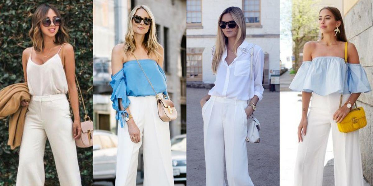 Ideas de looks con pantalones blancos para ir elegante y fresca en el verano