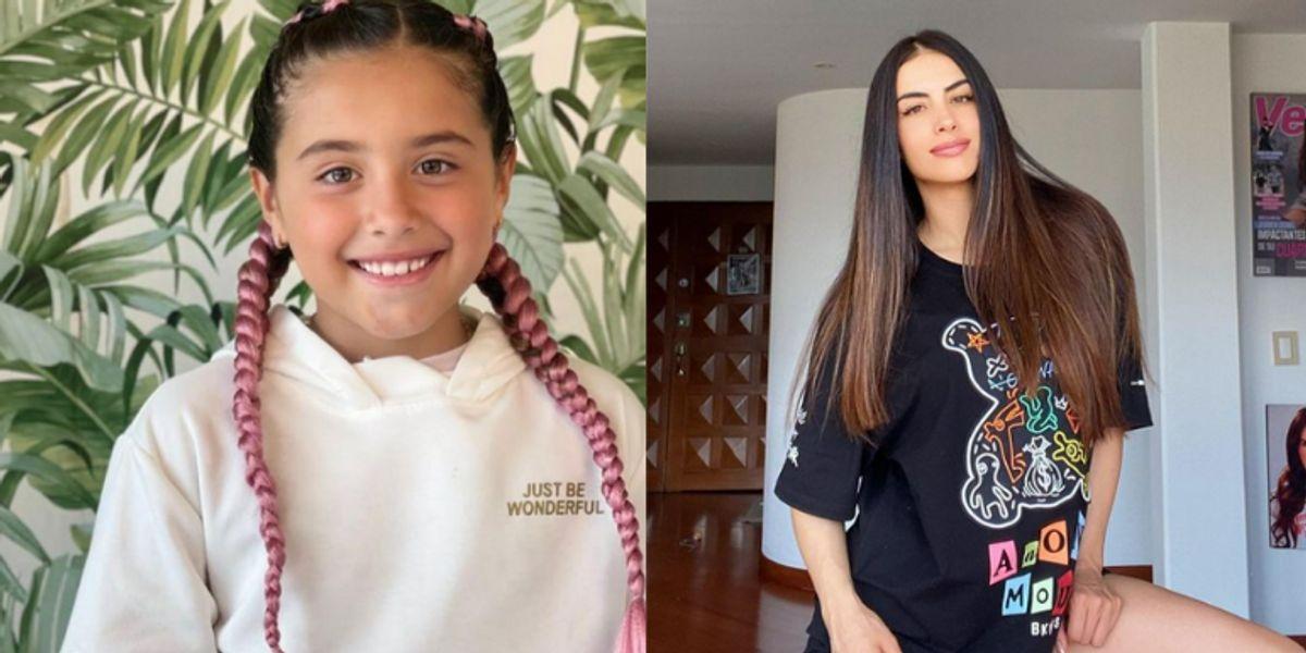 La foto de infancia de Jessica Cediel por la que dicen que era igual a Salomé Rodríguez