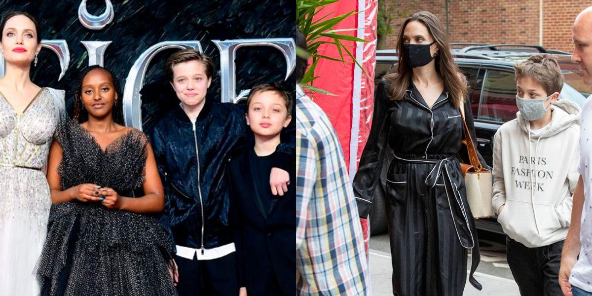 Shiloh y Knox reaparecen y sorprenden con su parecido a Angelina durante viaje a París
