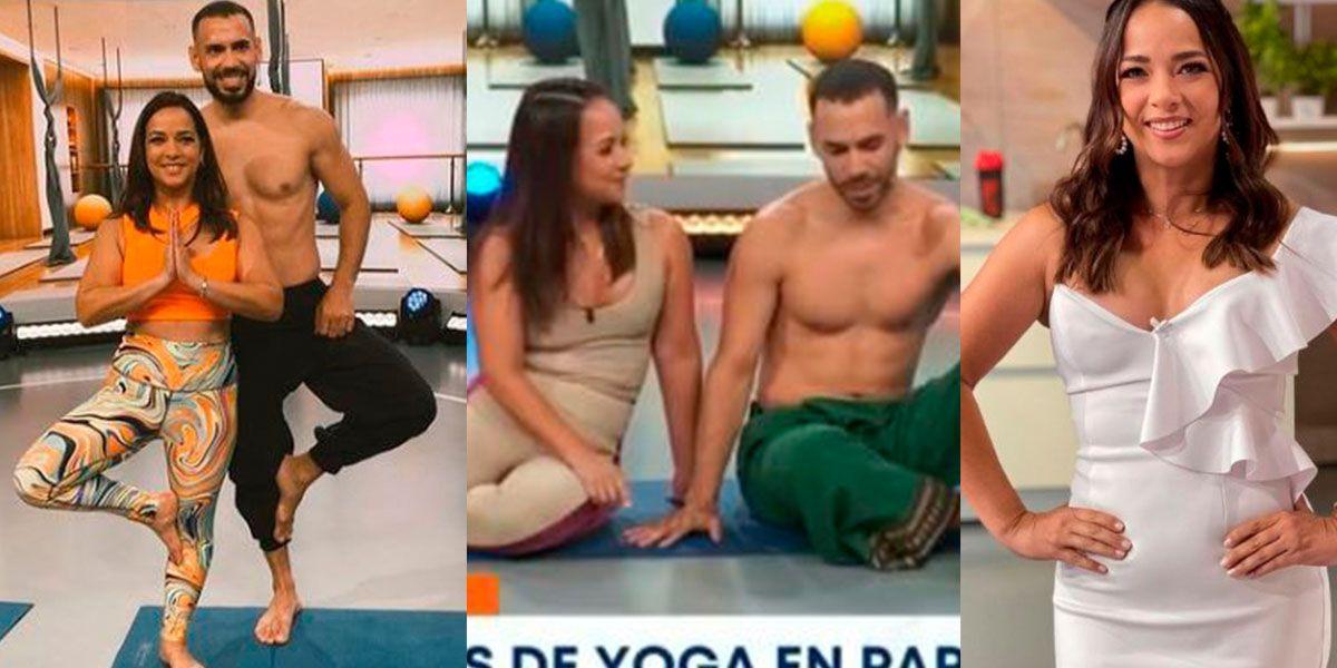 Adamari Lopez practica yoga de pareja con sexy instructor y le llueven las críticas