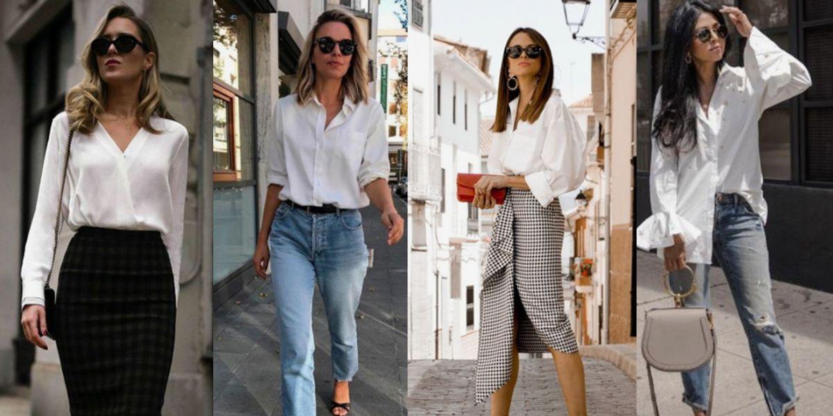 Tips para llevar atuendos con camisa blanca y no lucir aseñorada