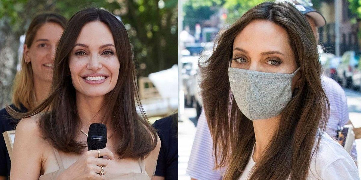 Angelina Jolie es la elegancia en sofisticado maxivestido negro