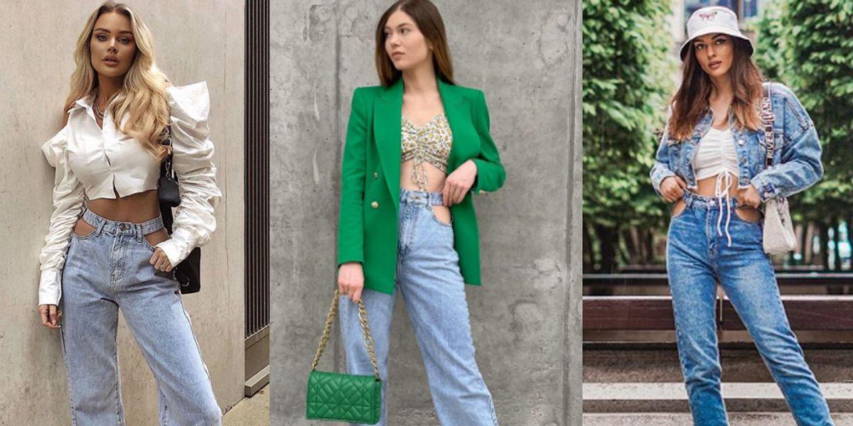 Formas de combinar los cut out jeans, la tendencia más sexy del 2021