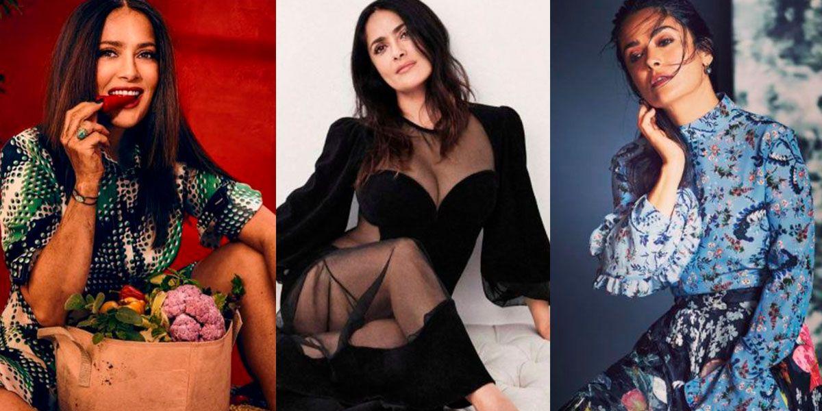 Salma Hayek nos enseña a realzar la elegancia a los 50 con los vestidos más glamurosos