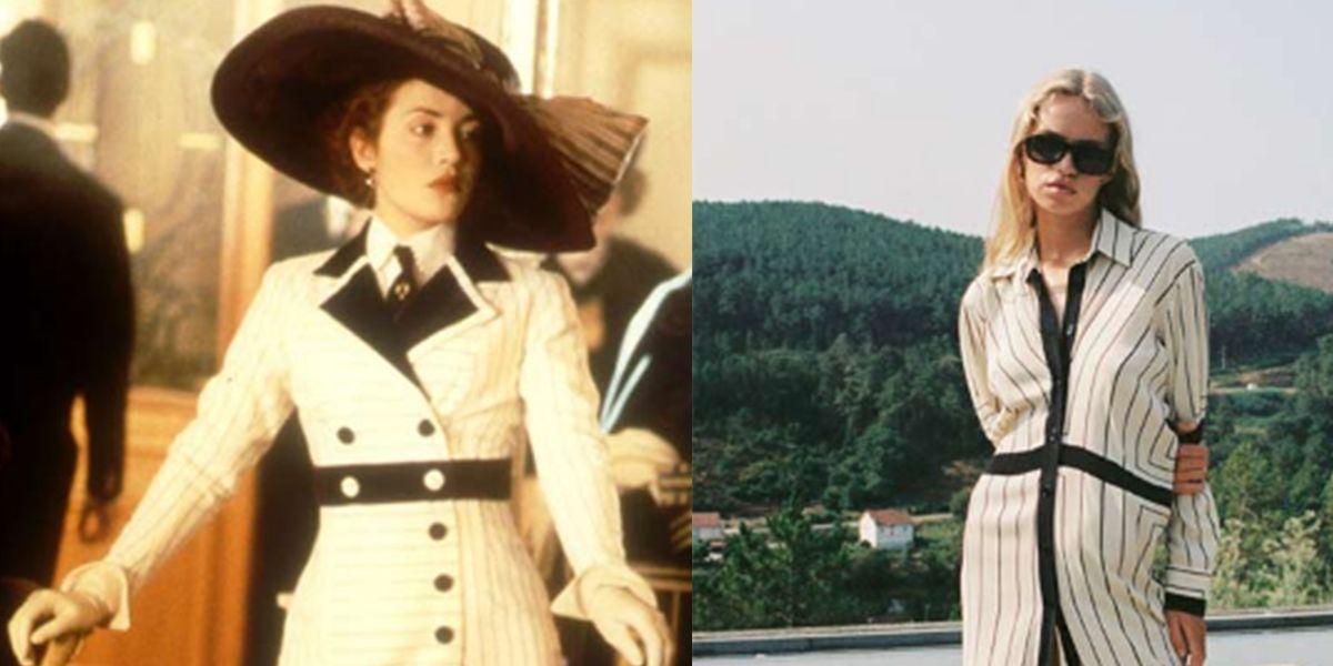Este es el vestido camisero que evoca a uno de los atuendos usados en Titanic