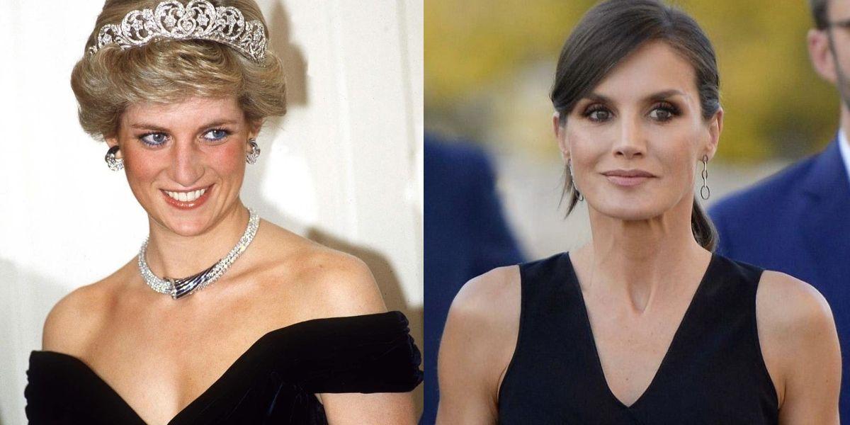 """El sensual vestido """"de la venganza"""" con el que la reina Letizia imitó a Lady Di y se vio fabulosa"""