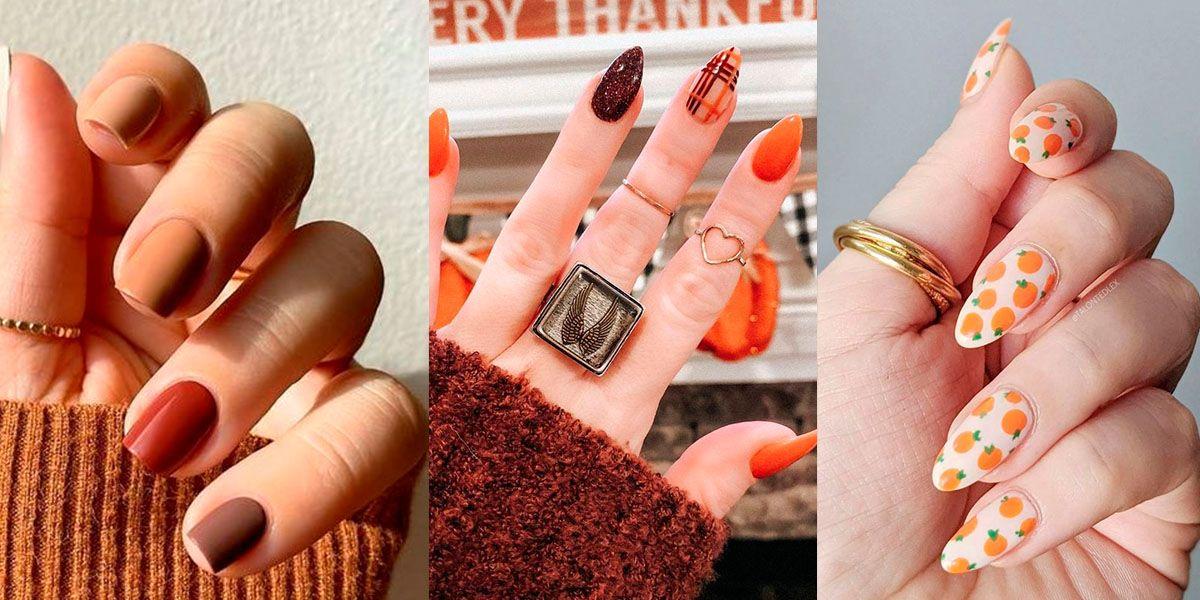 Uñas de otoño 2021: diseños chic en naranja y marrón para destacar