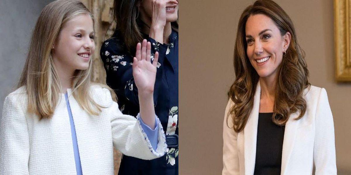La princesa Leonor inspiró su atuendo en Kate Middleton y estas fotos lo demuestran