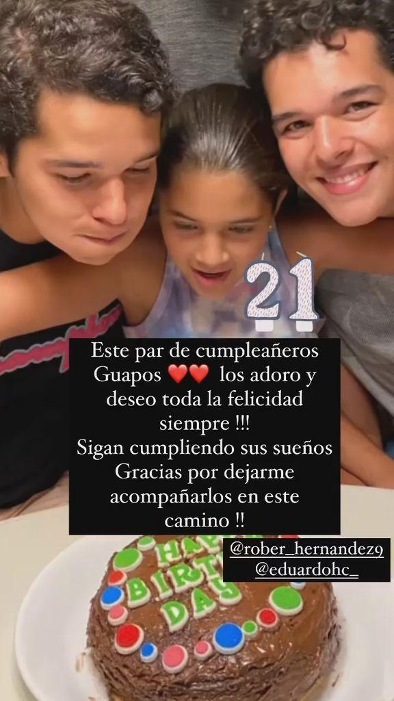 Mayrín Villanueva felicitó a los gemelos